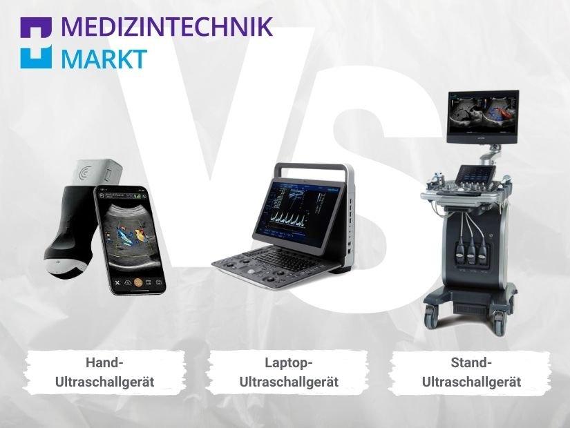 Ultraschallgeräte Arten: Handheld-, mobiles Laptop- und Standgerät