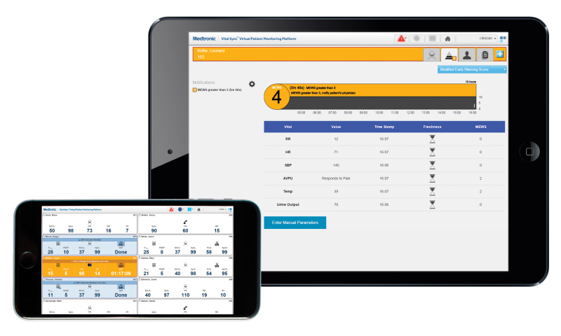 Medtronics virtuelle Patientenüberwachungsplattform Vital Sync 2.6